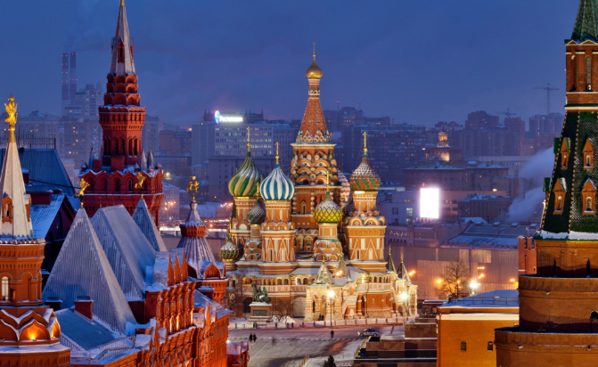 Book first or business class tickets to fascinating Moscow to see Red Square and the Kremlin. - IFlyFirstClass